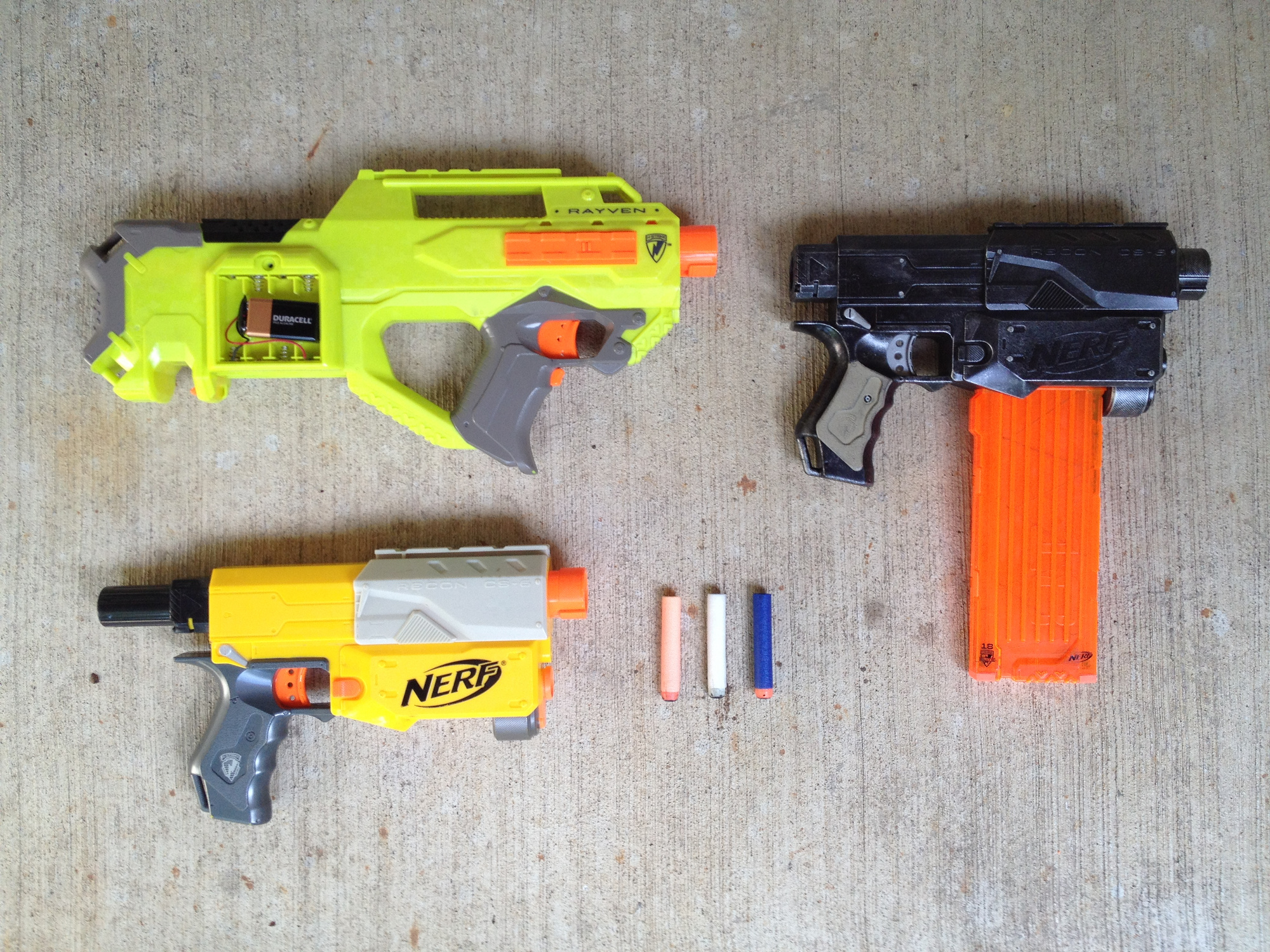 Image is loading Nerf-Gun-Hail-Fire-Battery-Powered-Semi-Automatic